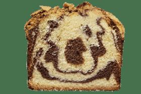 Photo d'un cake tranché en deux