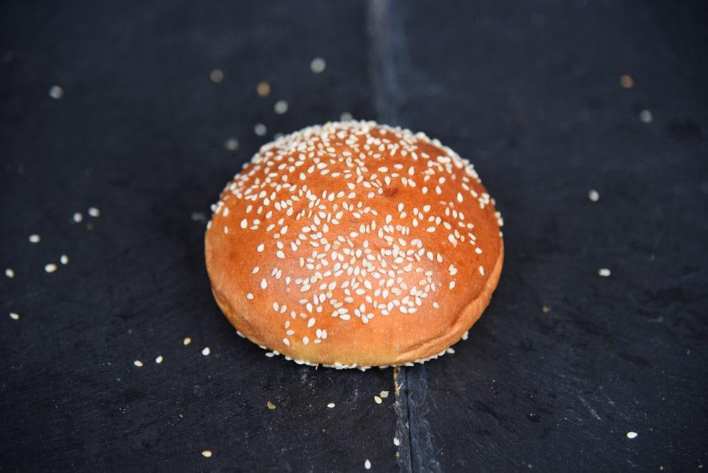 photo d'un pain hamburger de chez Antoine