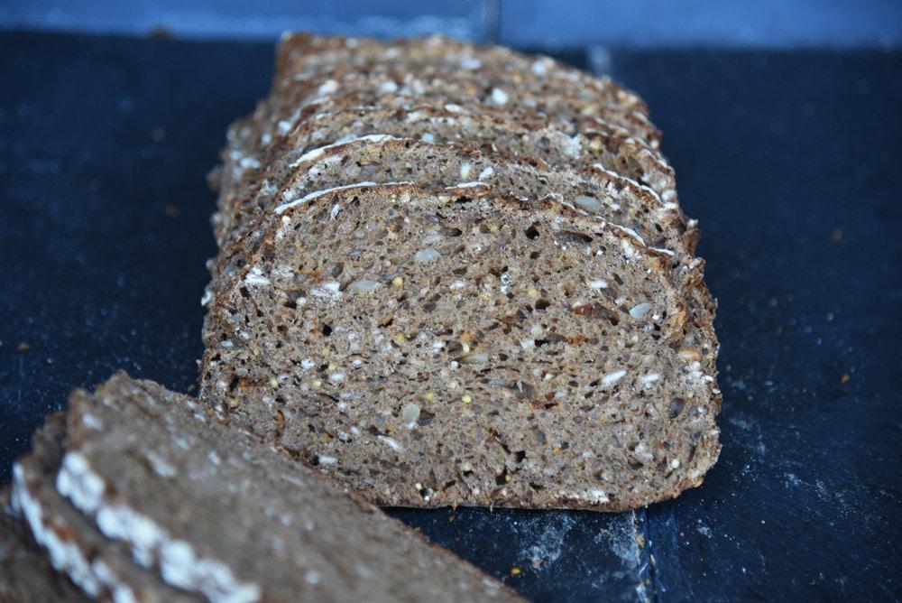 photo d'un pain fitness tranché